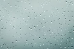 Rain drops aqua Royalty Free Stock Image