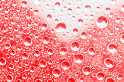 Rain drops background with hearts shapes Stock Image
