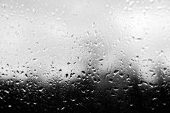 Rain drops on car glass Royalty Free Stock Photo
