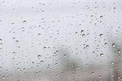 Rain drops on car glass Royalty Free Stock Images
