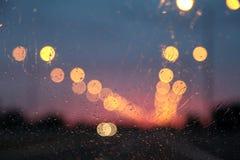 Rain drops on car window Royalty Free Stock Image