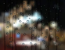 Rain drops city Stock Photos