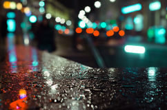 Rain drops. Curb of an underground passage in rain drops Royalty Free Stock Photo