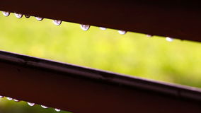 Rain drops.Curtain wall slides protects from sun and rain stock video