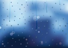 Rain drops and drips on a window pain Stock Photography