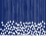 Rain drops falling Royalty Free Stock Images