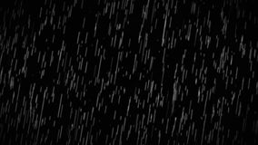 Rain Drops Falling Alpha Loop stock video