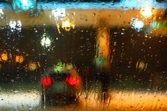 Rain drops on glass. Royalty Free Stock Photo