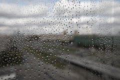 Rain drops on glass Stock Photo