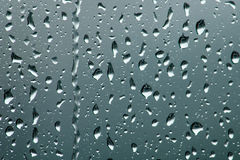 Rain drops on glass Royalty Free Stock Images