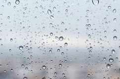 Rain drops on glass Royalty Free Stock Photo