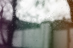 Rain drops on glass Royalty Free Stock Photography