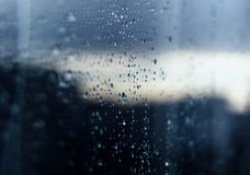 rain drops on glass reflection stock photography - Glass Reflection