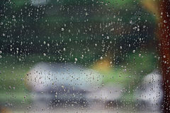 Rain drops on glass texture Stock Photography