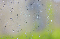 Rain drops on the glass. Water droplets on the windshield Royalty Free Stock Images