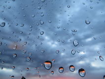 Rain drops on glass Royalty Free Stock Image