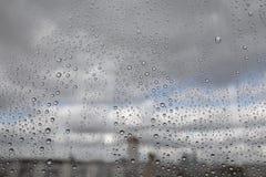 Rain drops on glass Royalty Free Stock Image