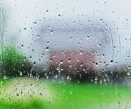 Rain drops on glass of a window Royalty Free Stock Image