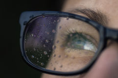 Rain drops on the glasses 3. Royalty Free Stock Image