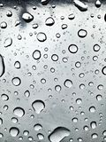 Image of raindrops in great contrast. Rainy season. Rain drops in good contrast for backgrounds and textures of artistic and editing works stock photo