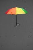 Rain drops on gray umbrella for background Stock Image