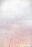 Rain drops on lilac background Stock Photography