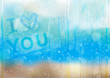 Rain_drops_love_bk Stock Images