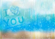 Rain_drops_love_bk Stock Images