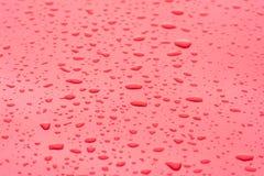 Rain Drops On Metal Surface Royalty Free Stock Photo