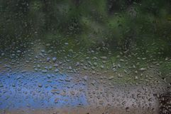 Free Rain Drops On The Window Royalty Free Stock Image - 117870556