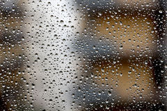 Rain drops over the window Royalty Free Stock Photo
