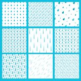 Rain drops seamless pattern background rainy drops pattern stylish background. Rain drops pattern design seamless Stock Photo