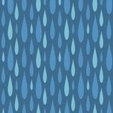 Rain drops seamless pattern background vector water blue nature raindrop abstract illustration Stock Photography