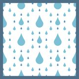 Rain drops seamless pattern background vector water blue nature raindrop abstract illustration Stock Photos