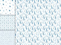 Rain drops seamless pattern background vector water blue nature raindrop abstract illustration Royalty Free Stock Photography