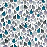 Rain drops seamless pattern. Stock Photo