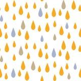 Rain drops seamless vector pattern. Stock Photo