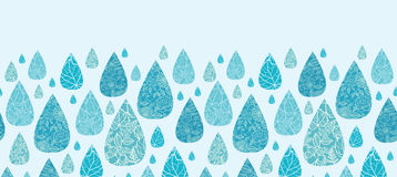 Rain drops textured horizontal seamless pattern Stock Images