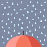 Rain drops with umbrella Stock Images