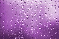 Rain drops with violet light Royalty Free Stock Images
