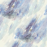 Rain Drops. Watercolor. Seemless pattern royalty free illustration