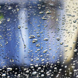 Rain Drops on Window. During a stormy evening (shallow dof Royalty Free Stock Photos