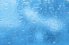 Rain drops on a window. Of car Royalty Free Stock Photography