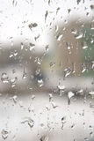 Rain drops on the window. Abstract background. Shallow DOF Stock Images