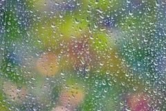 Rain drops on a window Royalty Free Stock Photography