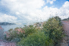 Rain drops on window Royalty Free Stock Photography