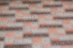 Rain drops on the window Stock Photography