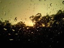 Rain Drops on Window Royalty Free Stock Photos