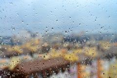 Rain drops on the window Stock Photos