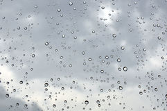 Rain drops on window Stock Images